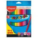 18 Lápices de Colores
