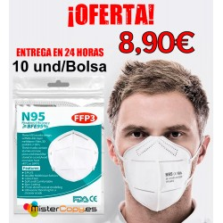 10 Mascarillas KN95-FFP3 (PACK)