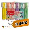 Subrayadores Pastel (Pack 6 und)