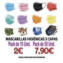 Mascarillas Higiénicas de Colores